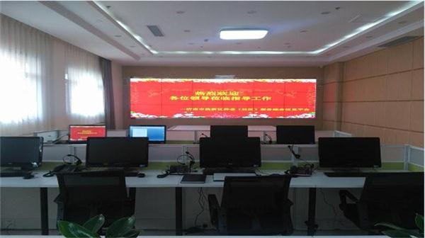 液晶拼接屏应用于山东某养老中心